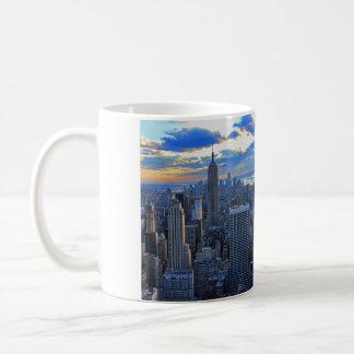 Late afternoon NYC Skyline as sunset approaches Basic White Mug