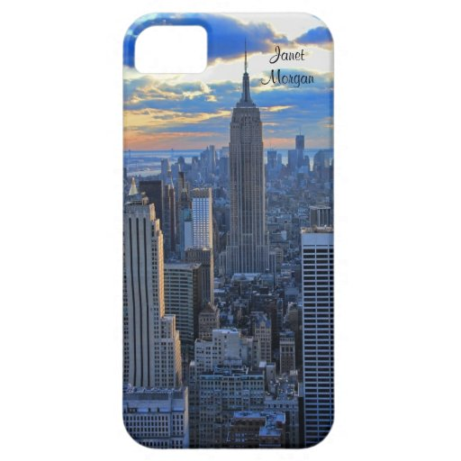 Late afternoon NYC Skyline as sunset approaches iPhone 5 Covers