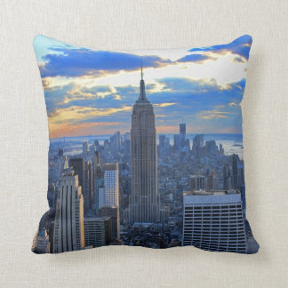 Late afternoon NYC Skyline as sunset approaches Cushion