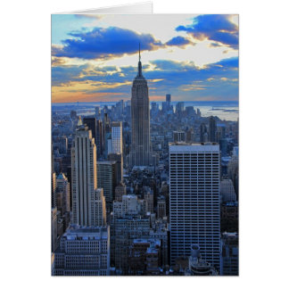 Late afternoon NYC Skyline as sunset approaches Greeting Card