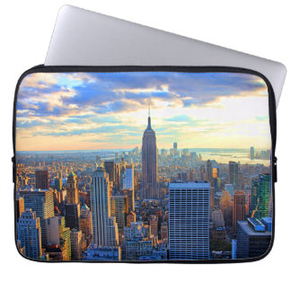 Late afternoon NYC Skyline as sunset approaches Laptop Sleeve
