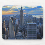 Late afternoon NYC Skyline as sunset approaches Mouse Mat