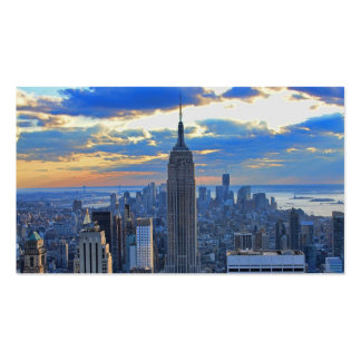 Late afternoon NYC Skyline as sunset approaches Pack Of Standard Business Cards