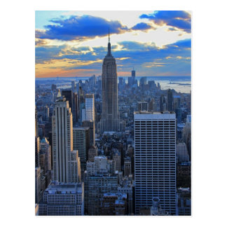 Late afternoon NYC Skyline as sunset approaches Postcard