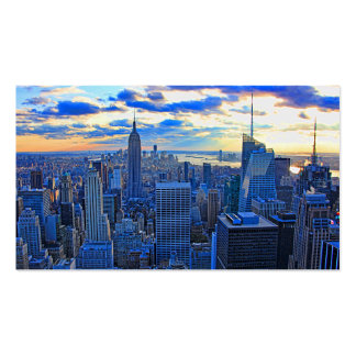 Late afternoon NYC Skyline as sunset approaches W Pack Of Standard Business Cards