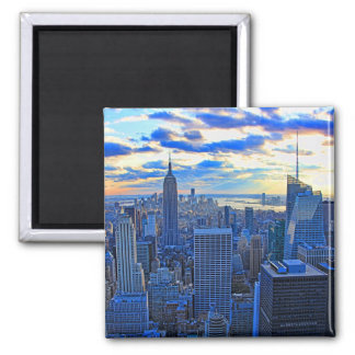 Late afternoon NYC Skyline as sunset approaches W Square Magnet