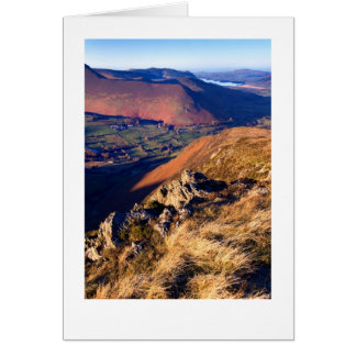 Late afternoon on Cat Bells, The Lake District Card