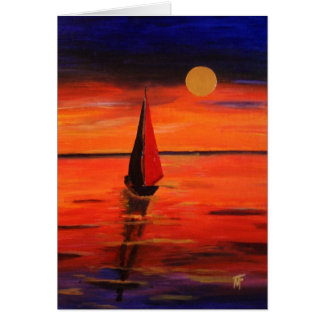 Late Afternoon on  The Lake  Greeting Card