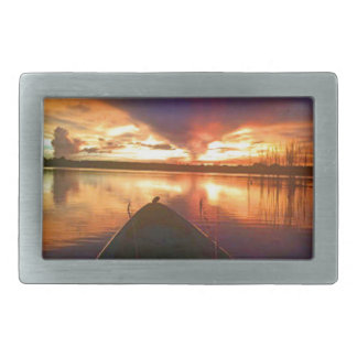 Late Afternoon Sunset Belt Buckle