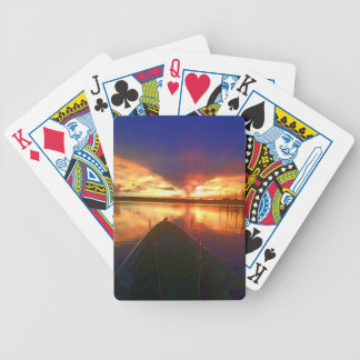 Late Afternoon Sunset Bicycle Playing Cards