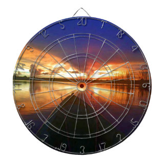 Late Afternoon Sunset Dartboard