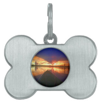 Late Afternoon Sunset Pet Name Tag