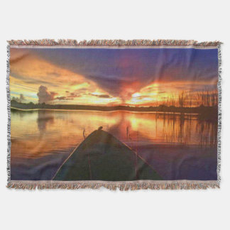 Late Afternoon Sunset Throw Blanket