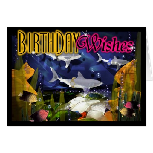 Late Birthday Wishes Delivered By Sharks