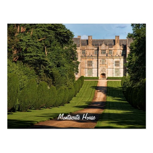 Late Elizabethan Montacute House Stately Home Post Cards