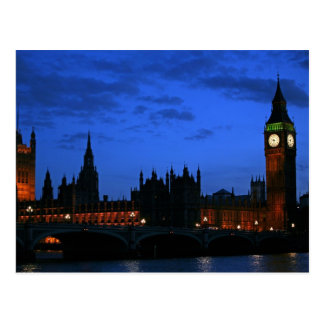 Late evening, Westminster, London Postcard