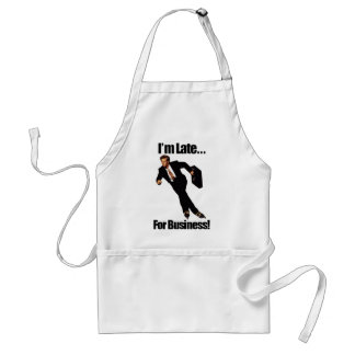 Late For Business Rollerblade Skater Meme Apron