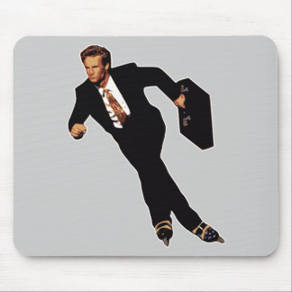 Late For Business Rollerblade Skater Meme Mouse Mat