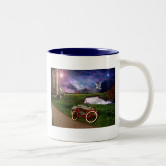 Late for evening prayer.. Two-Tone coffee mug