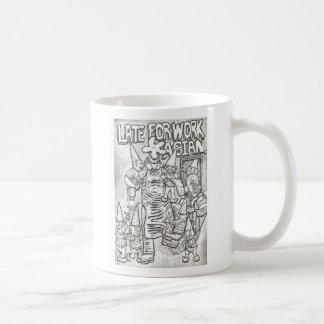 late for work basic white mug