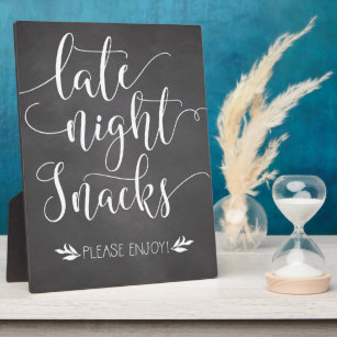 Late Night Snacks Favour Sign Plaque