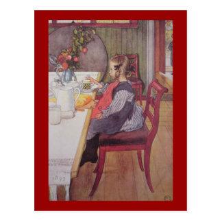 Late Riser at Breakfast Postcard