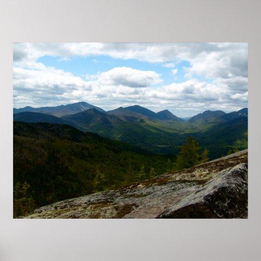 Late Spring Mountain Panorama Poster