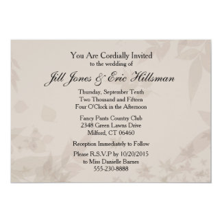 Late summer or Fall leaves foliage invitation
