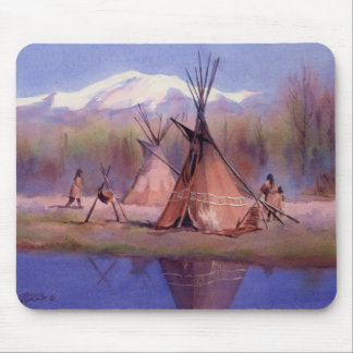 LATE SUMMER TIPI CAMP by SHARON SHARPE Mouse Pad