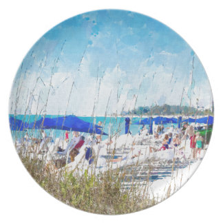 Late Winter Early Spring on Lido Beach Dinner Plates
