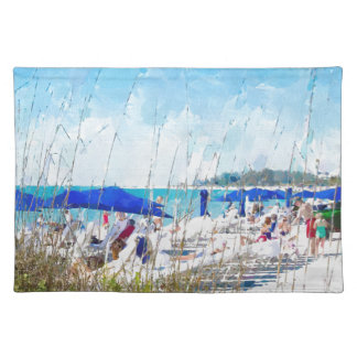 Late Winter Early Spring on Lido Beach Place Mats