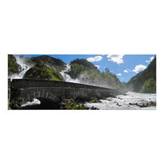 Latefossen waterfall in Norway photo print