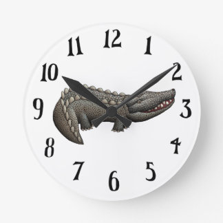 Later Alligator Round Clock