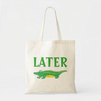 Later Gator Green Alligator Tote Bag