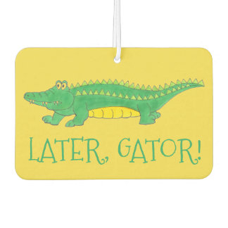 Later Gator Green Yellow Alligator Croc Crocodile Car Air Freshener