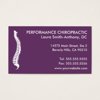 Lateral Spine Chiropractic Business Cards