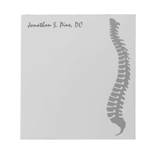 Lateral Spine Logo Doctor Personalised Notepad