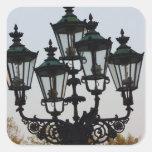 Latern Lamp Square Sticker