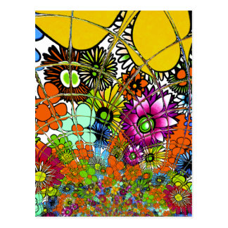Latest colorful amazing floral pattern design art. postcard