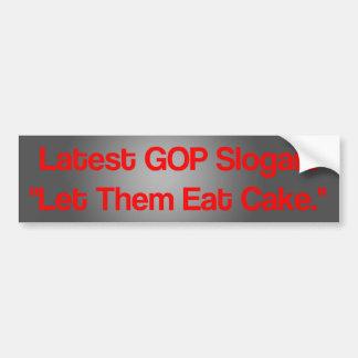 Latest GOP Slogan: Bumper Sticker