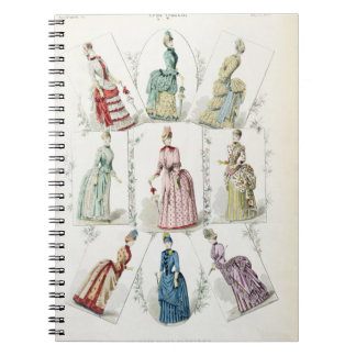 Latest Paris Fashions, nine day dresses in a fashi Notebook