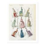 Latest Paris Fashions, nine day dresses in a fashi Postcard
