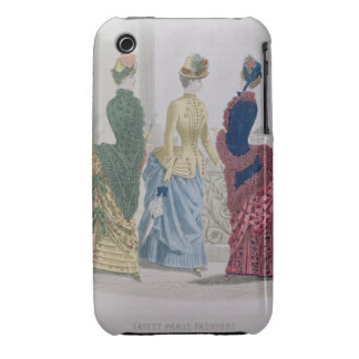 Latest Paris Fashions, three day dresses in a fash Case-Mate iPhone 3 Cases