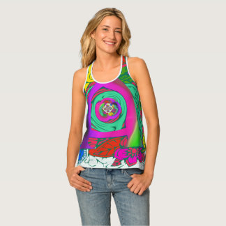 Latest Stylish Floral Girly edgy pattern design Tank Top