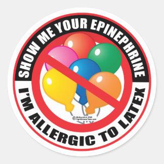 Latex Allergy Classic Round Sticker