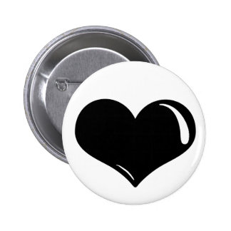 Latex Heart 6 Cm Round Badge