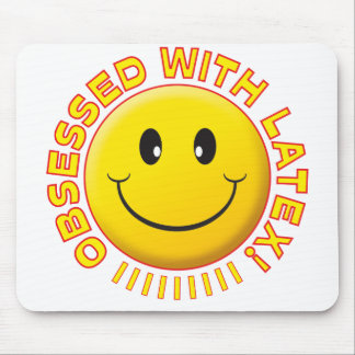 Latex Obsessed Smile Mouse Mat