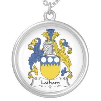 Latham Family Crest Silver Plated Necklace