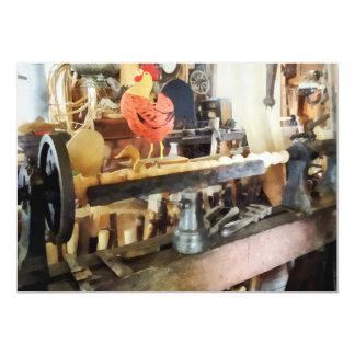 Lathe in Wood Shop 13 Cm X 18 Cm Invitation Card