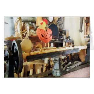 Lathe in Wood Shop Greeting Card